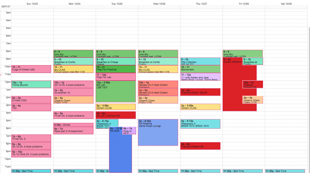 Save your grades with a google calendar schedule