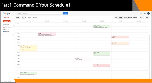 Time Management for College Students. Getting organized on Google Calendar