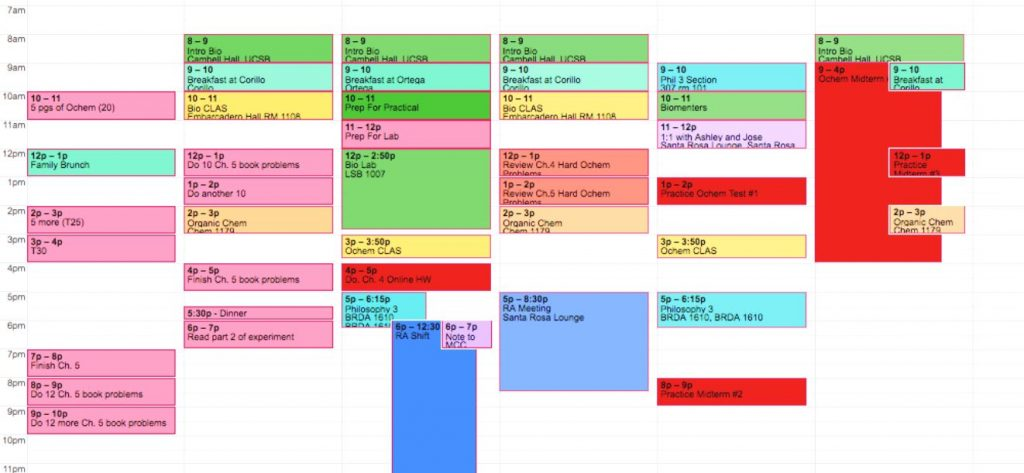 Time management for college students using google calendar