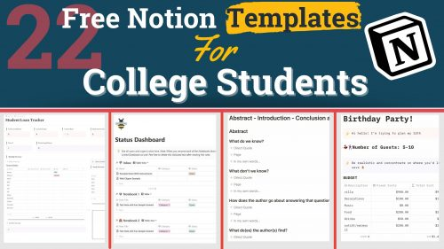 Notion Templates for College Students Thumbnail